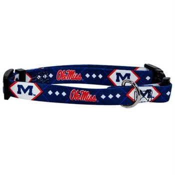 Ole Miss Rebels Dog Collar