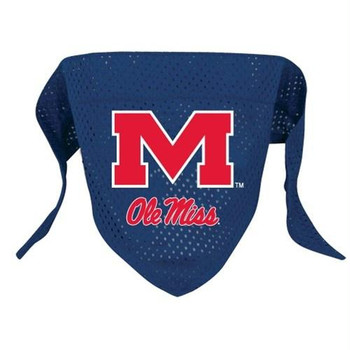 Ole Miss Rebels Mesh Dog Bandana