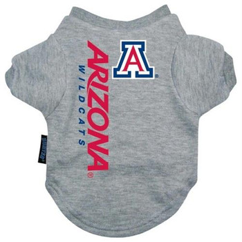 Arizona Wildcats Heather Grey Pet T-Shirt
