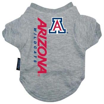 Arizona Wildcats Heather Grey Pet T-Shirt