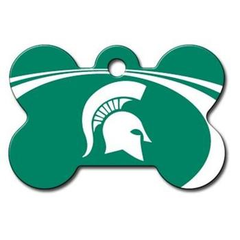Michigan State Spartans Bone ID Tag