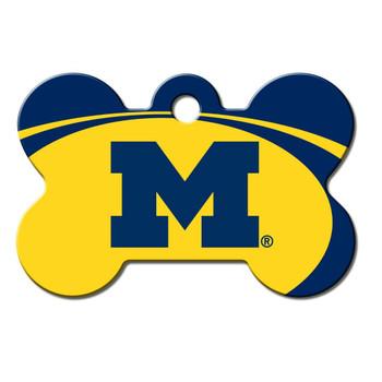 Michigan Wolverines Bone ID Tag