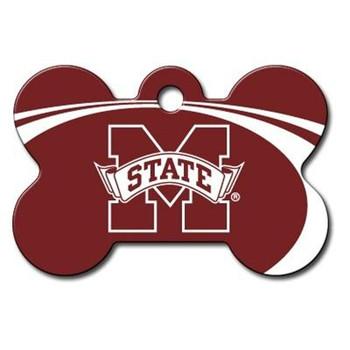 Mississippi State Bulldogs Bone ID Tag