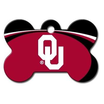 Oklahoma Sooners Bone ID Tag