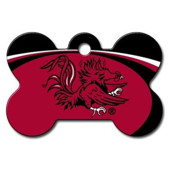 South Carolina Gamecocks Bone ID Tag
