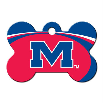 Ole Miss Rebels Bone ID Tag