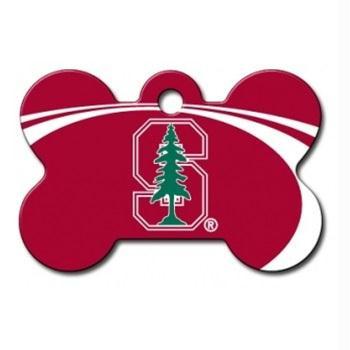 Stanford Cardinal Bone ID Tag
