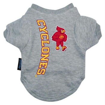 Iowa State Heather Grey Pet T-Shirt