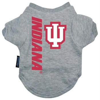 Indiana Hoosiers Heather Grey Pet T-Shirt