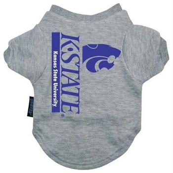 Kansas State Wildcats Heather Grey Pet T-Shirt