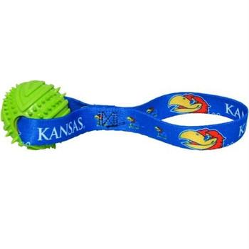 Kansas Jayhawks Rubber Ball Toss Toy