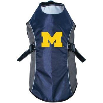 Michigan Wolverines Water Resistant Reflective Pet Jacket