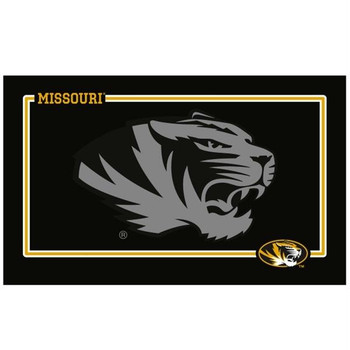 Missouri Tigers Black Pet Bowl Mat