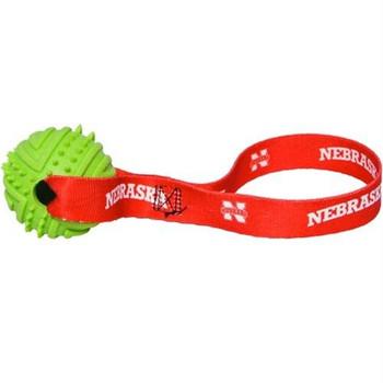 Nebraska Huskers Rubber Ball Toss Toy