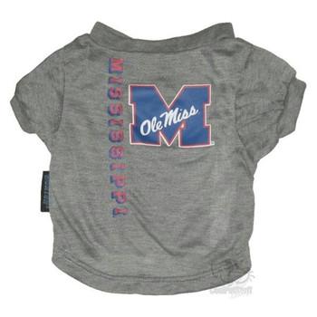 Ole Miss Rebels Heather Grey Pet T-Shirt
