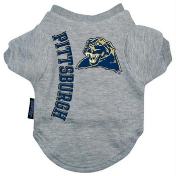 Pittsburgh Panthers Heather Grey Pet T-Shirt