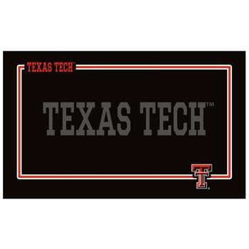 Texas Tech Red Raiders Black Pet Bowl Mat