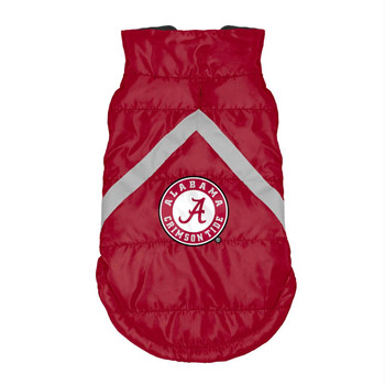 Alabama Crimson Tide Pet Puffer Vest - Teacup