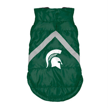 Michigan State Spartans Pet Puffer Vest