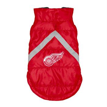 Detroit Red Wings Pet Puffer Vest - Teacup