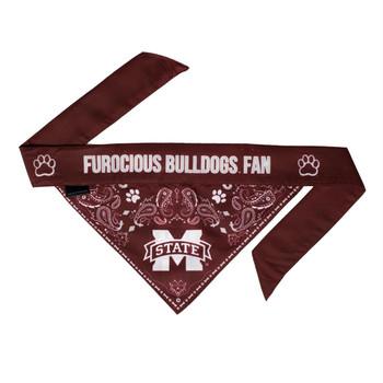 Mississippi State Bulldogs Pet Reversible Paisley Bandana