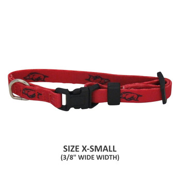 Arkansas Razorbacks Pet Nylon Collar - Small