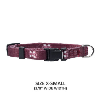 Mississippi State Bulldogs Pet Nylon Collar - Medium
