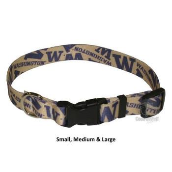 Washington Huskies Pet Nylon Collar - Medium