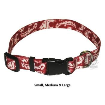 Washington State Cougars Pet Nylon Collar - Medium