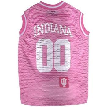 Indiana Hoosiers Pet Pink Basketball Tank Jersey