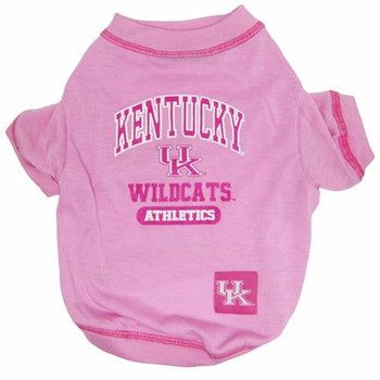 Kentucky Wildcats Pink Dog Tee Shirt