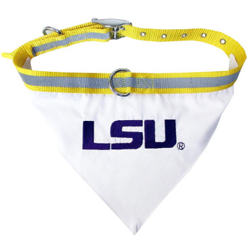 LSU Tigers Pet Collar Bandana - Small