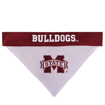 Mississippi State Bulldogs Pet Reversible Bandana