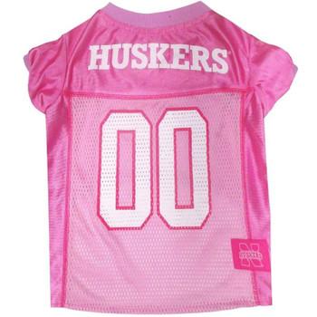 Nebraska Huskers Pink Pet Jersey