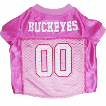 Ohio State Buckeyes Pink Dog Jersey