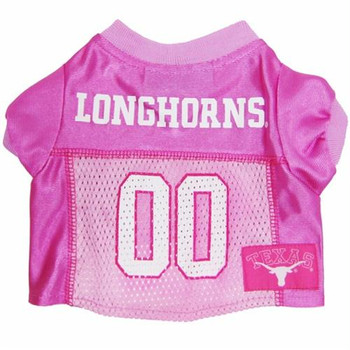 Texas Longhorns Pink Dog Jersey