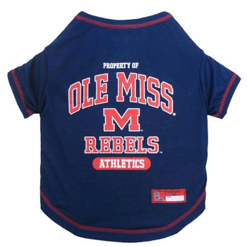 Ole Miss Rebels Pet Tee Shirt - pfum4014-0001