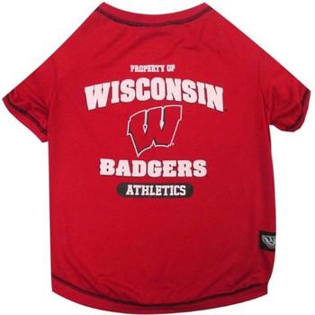 Wisconsin Badgers Pet Tee Shirt