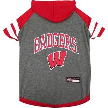 Wisconsin Badgers Pet Hoodie T-Shirt