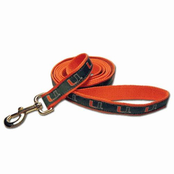 Miami Hurricanes Dog Leash Alternate Style