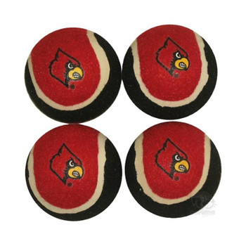 Louisville Cardinals Tennis Ball 4-Pak