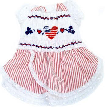 Liberty Hand-Smocked Dog Dress