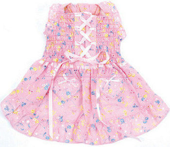 Hearts & Tarts Corsette Hand-Smocked Dog Dress