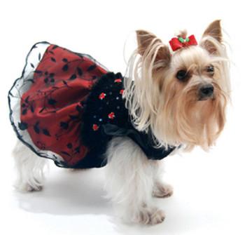 Midnight Gala Smocked Dog Dress