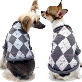 Prep Me Up Argyle Lurex Dog Sweater