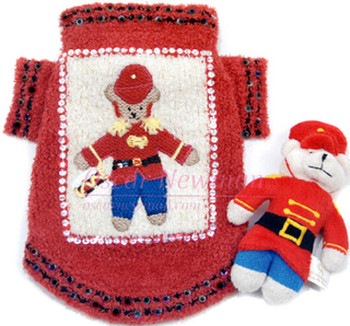 Holiday Beary Merry Christmas Dog Sweater w/ Toy