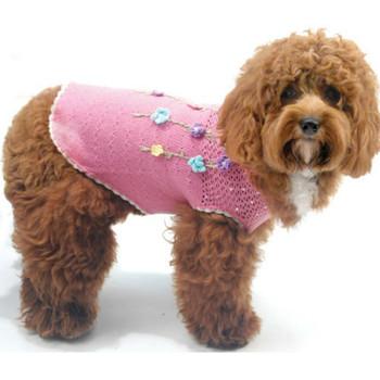 Floral Di-vine Pink Dog Sweater