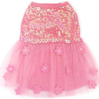 Hotter Than You Pink Sequin Dog Dress