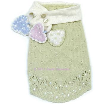 Little Sweet Hearts Dog Sweater & Scarf