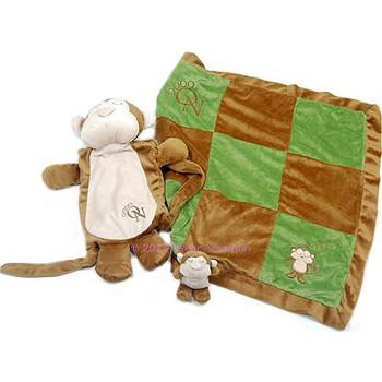 Sleep Over Monkey Blanket and Toy set